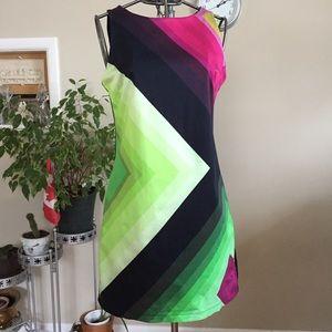 Desigual black green and pink sleeveless d…
